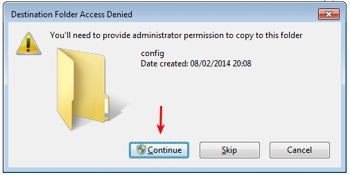 Permit copying of the configuration file