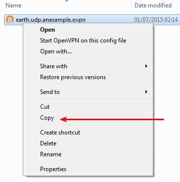 Copy user config
