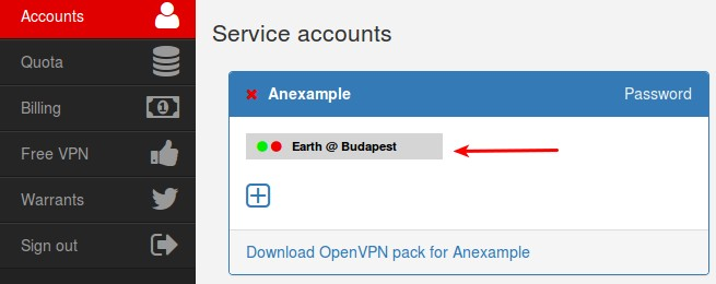 VPN accounts